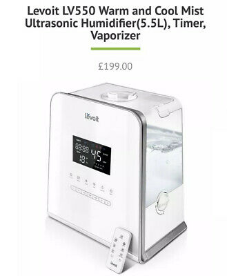 LEVOIT Hybrid Warm And Cold Ultrasonic Humidifier LV550HH Rrp £199.99