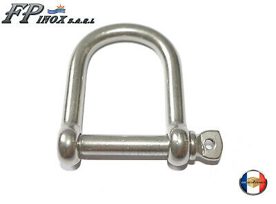 Manille Droite inox A4 EXTRA LARGE Ø 8mm inox A4