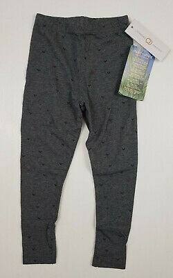 Colored Organics Insect Shield Repellent Girls Gray Hearts Leggings SZ 4T - NEW!