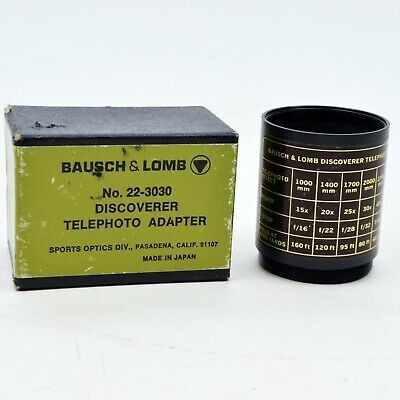 Vintage Bausch & Lomb Discoverer Telephoto Adapter No 22-3030 for telescope