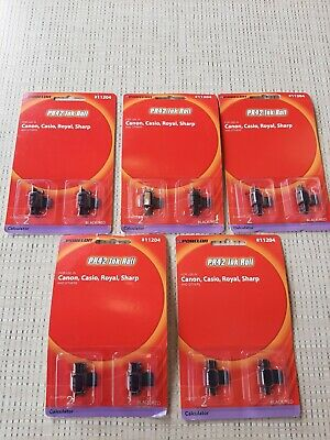 NEW Porelon #11204 42-2 Calculator Ink Rollers - Black/Red (lot of 5) free ship