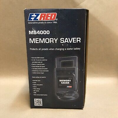 EZ Red Automotive Memory Saver with Charger MS4000 ++GREAT++