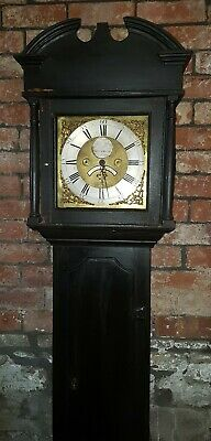 18thC 30hr LONGCASE CLOCK Brass Face 1780 by John Ayrey Hexham