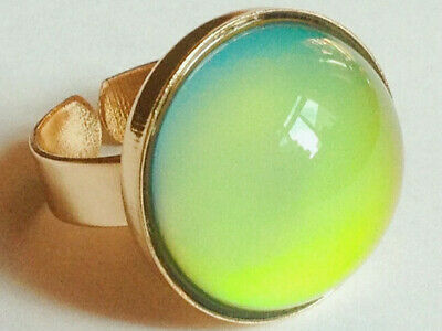 Sunrise of Wonders - Gold Plated Mood Ring - Adjustable - Color Changing
