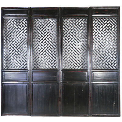 """Set of 4 Antique Chinese Architectural Doors Room Divider 27"""" x 100"""" Tall each"""