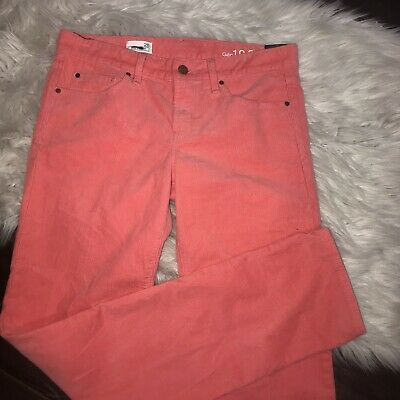 NWT GAP Real Straight Corduroy Pants Womens Size 28 Pink Reef