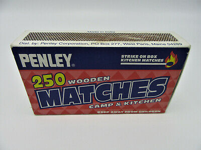 10 boxes PENLEY Small Penny MATCHES pocket Strike On Box CIGAR camping safety