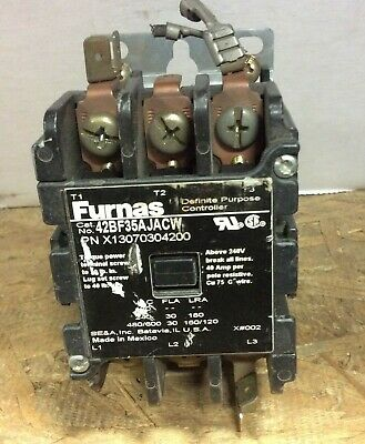 FURNAS 42BF35AJACW CONTACTOR 24VAC COIL Used