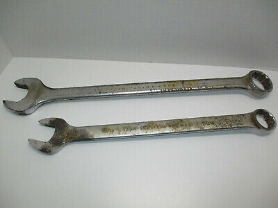 """LOT of (2) VINTAGE PROTO OPEN/BOX COMBO WRENCHES #1234 1-1/16"""" & # 1240 1-1/4"""""""