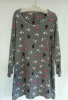 Simply Basic Women's Size 2X-3X Gray Scotties Sleepshirt Gown