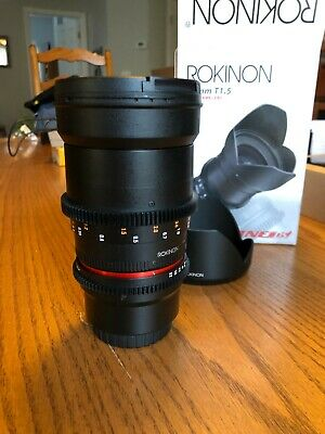 Rokinon Cine DS 35mm T1.5 AS IF UMC Full Frame Cine Lens (DS35M-MFT) Micro 4/3