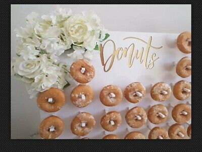 Y238B Donut Doughnut Wall Stand Party Wedding Favour Birthday Sweets Candy Carts
