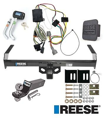 "Reese Trailer Tow Hitch For 98-04 Nissan Frontier Deluxe Wiring 2"" Ball and Lock"