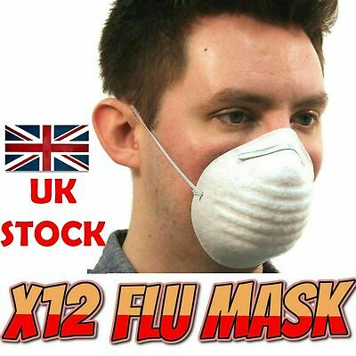 12 X Anti Virus Flu Dust Pollution Medical Face Mask Metal Surgical Protect Safe