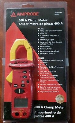 Brand New Amprobe Ac40C 400A Clamp Meter With Soft Case