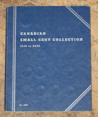 Canadian Small Cent Collection 1920-1978 Partial set as shown in Whitman
