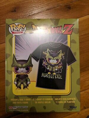Funko POP! Pop and Tee Metallic Cell Gamestop Dragonball Z Size L