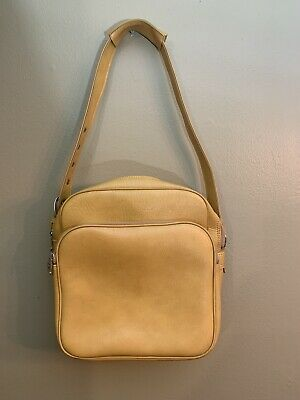 INTERPUR Golden Yellow VINTAGE Carry-On Overnight Travel Luggage Bag Tote