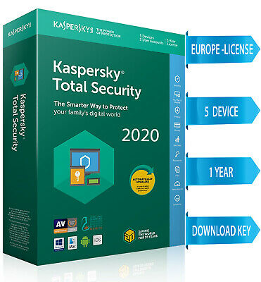 Kaspersky TOTAL Security 2020  5 PC / 5 DEVICE/ 1  Year / REGION- EUROPE 17.54$