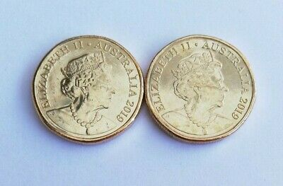 2 x 2019 $1 Coins - New Effigy on the Obverse - From Mint Bag