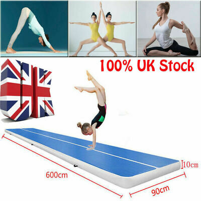 UK GoFun Air Track Floor Home Inflatable Gymnastics Tumbling Mat GYM Yoga Mat LM