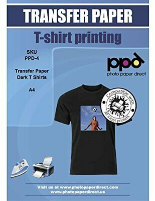 T Shirt Printing Paper A4 Dark Fabric Iron On 5pc Inkjet Tshirt Transfer Paper !