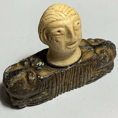 Ancient Bactrian Rare Stone Temple Diety Idol Statue-Circa 200Bc-200Ad