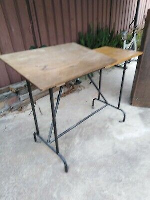 Old Architects Drafting Table Desk. Vintage retro.