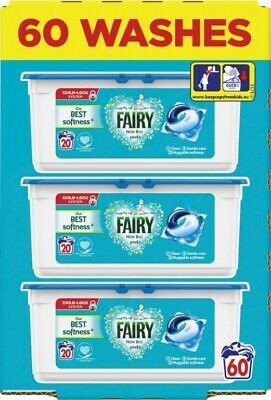 Fairy Non Bio Washing Pods Liquid Gel Laundry Capsules - 60 Washes