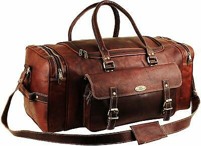 Round Carry On Leather Duffle Bag for Men | Goat Leather Duffle
