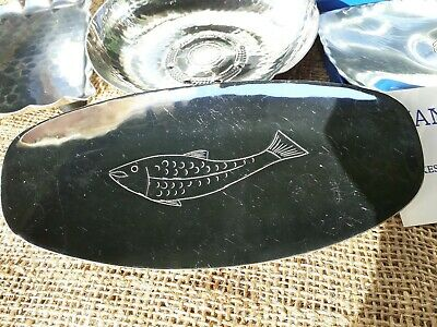 VINTAGE KSIA fish dish HAND CRAFTED