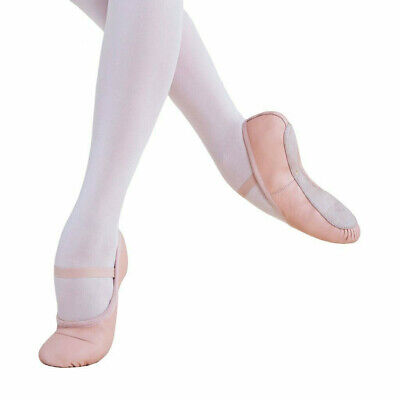 Full Sole Premium Leather Ballet Dance Shoes Colour Salmon Pink Charming#226