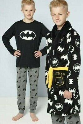 Older Boys Batman Pyjamas And Soft Robe Combo 8-9 Years NEW IDEAL GIFT