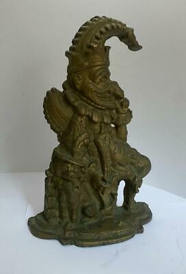 "Antique Victorian Cast Iron ""MR PUNCH & TOBY THE DOG"" Door Stop"