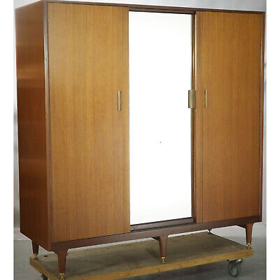 G Plan Triple Wardrobe (delivery available) Teak Vintage Retro 60s Mirror