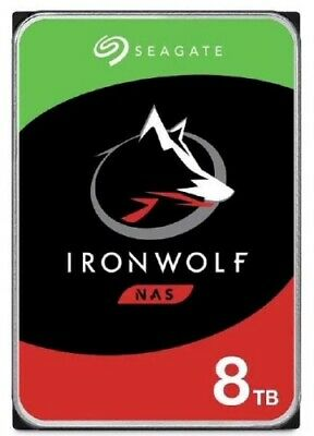 "NEW SEAGATE ST8000VN004 IRONWOLF NAS HDD 3.5"" 8TB SATA 7200RPM 256MB CACHE N.c."