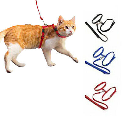 Pet Living Fully Adjustable Cat Harness and  Lead/Leash/Collar