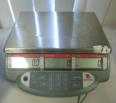 Ohaus EC 15 Series Industrial Counting Scale 30 lb x 0.01 lb