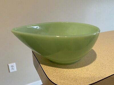 Fire King Jadite Jadeite Small Teardrop Swedish Modern Bowl