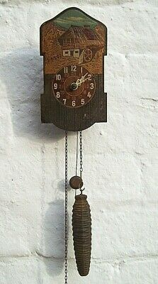 Small Black Forest Wall Clock circa 1920,s