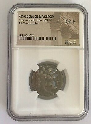 Greek Macedon  336-323  BC Alexander III The Great AR Tetradrachm NGC Ch F