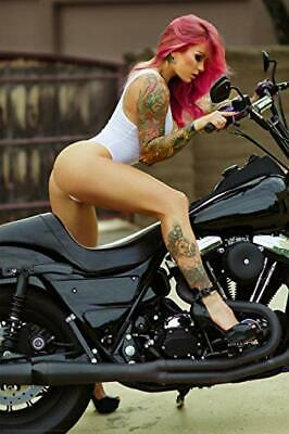 Pink Biker by Daveed Benito Poster 24 x 36 inches