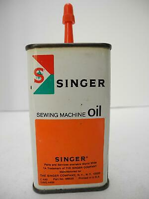 Vintage Singer Sewing Machine oil Hand Pump 4 oz Tin SIMS 4499