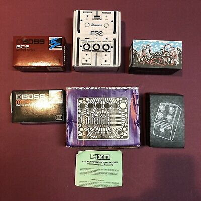 Guitar Pedal Effects BOXES ONLY Bundle Electro Harmonix Moog Boss and more!