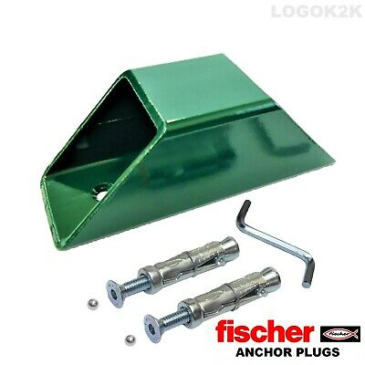 Green Anchor Set  Motorcycle Motorbike Bike  Solid Security  Ground Wall Anchor