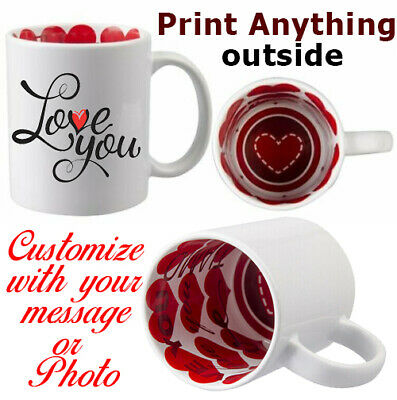 Custom Printed Outside & I Love You Inside Personalised Mug Cup - Print Anything
