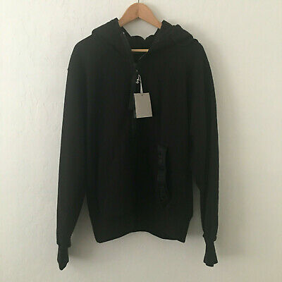TOM FORD Garment Dyed Logo Hoodie Oversized Sweatshirt Black Size M $1450 NEW