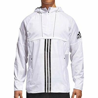 NEW MEN ADIDAS ID ANORAK WHITE Woven Hooded Jacket DN2419  XL