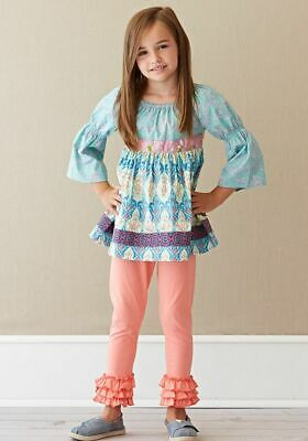 Matilda Jane Secret Fields Paisley Petals Peasant Top Youth Girls Size 10