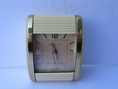 Vintage Westclox Celluloid & Metal Travel Alarm Clock, Nice Cond. (Works)